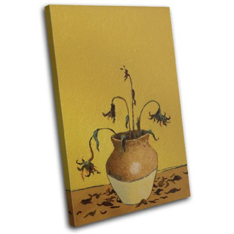Sunflowers Banksy Painting - 13-1620(00B)-SG32-PO